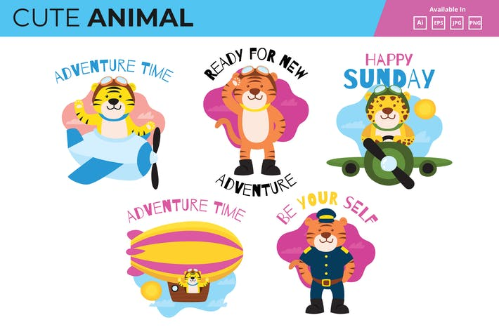 Thumbnail for Pilot Tiger mascot collection