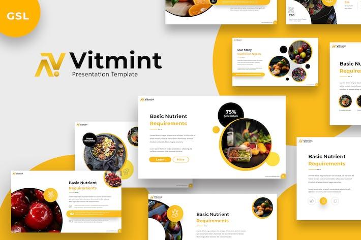 Thumbnail for Vitmint - Food Google Slides Template