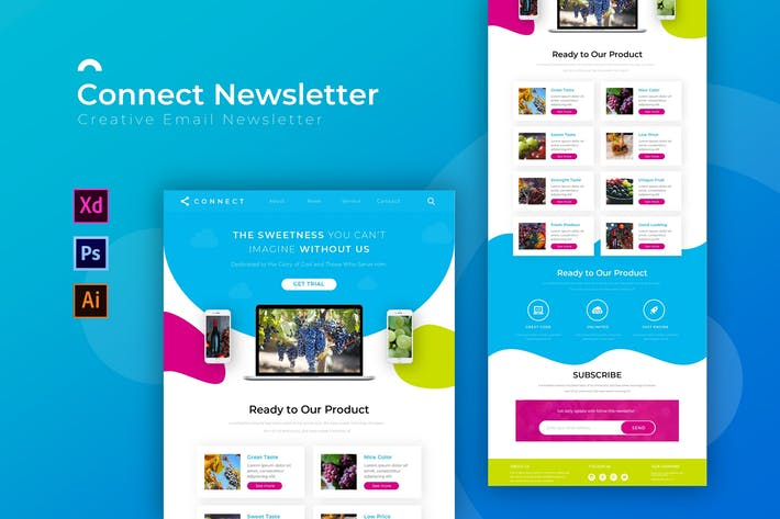 Thumbnail for Connect   Newsletter Template