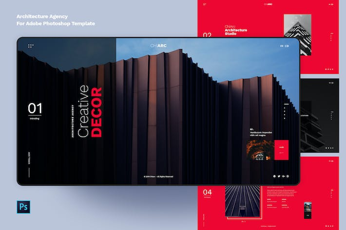 Thumbnail for ChiArc-Architecture for Adobe PSD Template