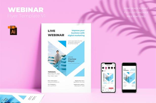 Webinar Flyer Template Vol. 01