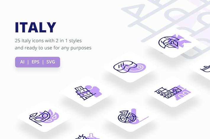 Italien (Linie und Solid)