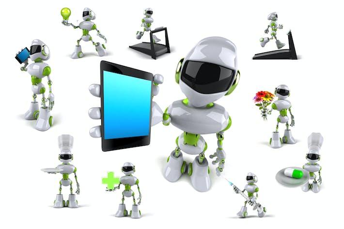 Thumbnail for 10 green Robots !
