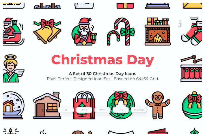 Thumbnail for 30 Christmas Day Icons