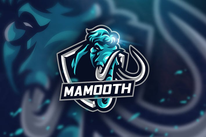 Thumbnail for Blue Mamooth - Mascot & Esport Logo