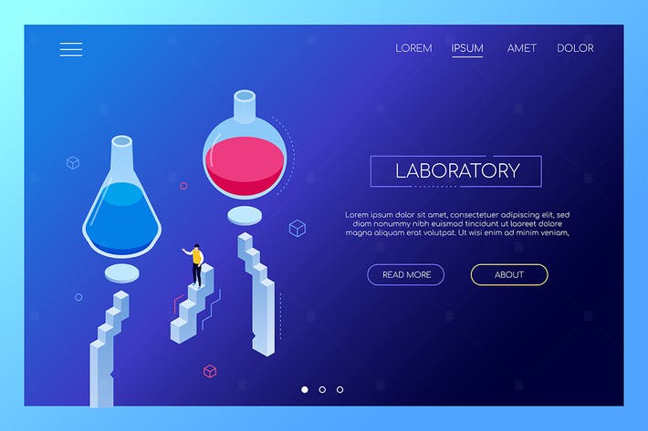 Thumbnail for Laboratory concept - modern isometric web banner