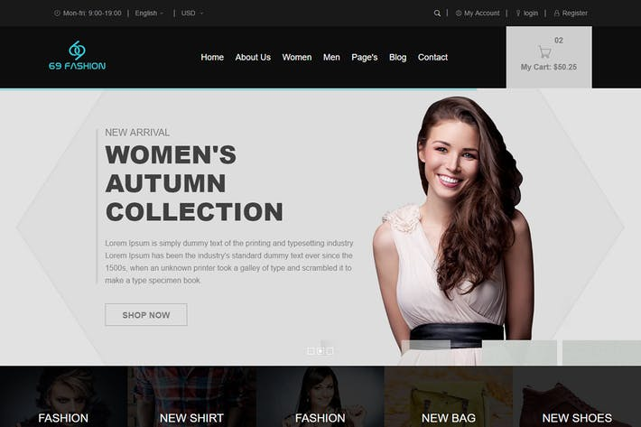 Thumbnail for 69 fashion - eCommerce Responsive Bootstrap Templa