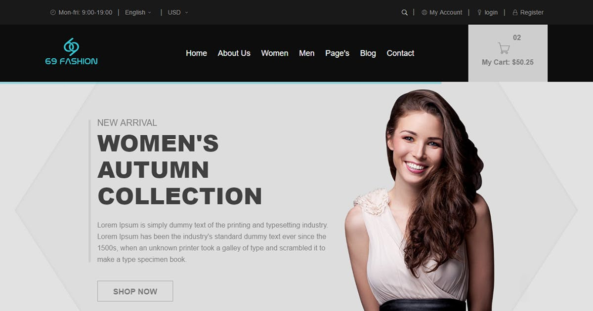 Download Erina - eCommerce Responsive Bootstrap Template by codecarnival