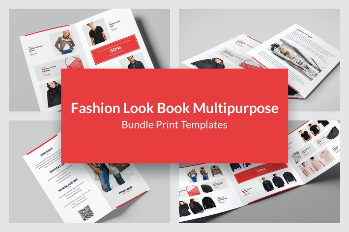 Thumbnail for Fashion Look Book – Brochures Bundle 9 in 1