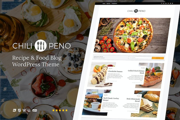 Thumbnail for Chilipeno - Recipe & Food WordPress Theme