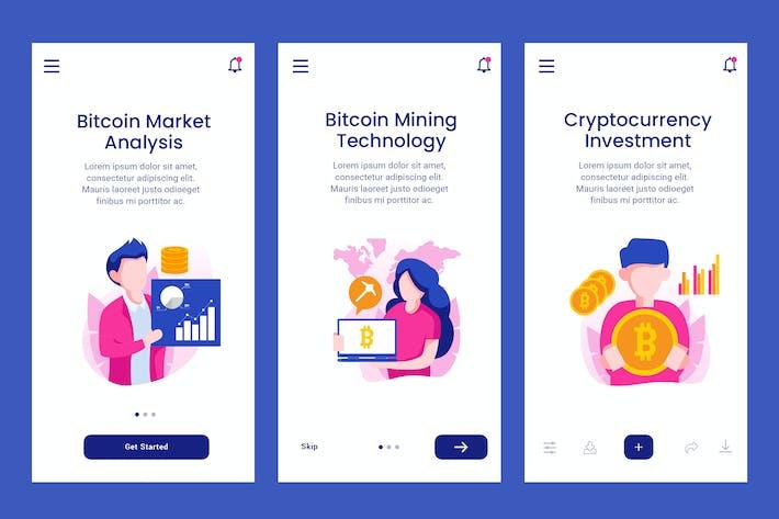 Thumbnail for Onboarding-Bildschirm für Bitcoin-Technologie-Apps