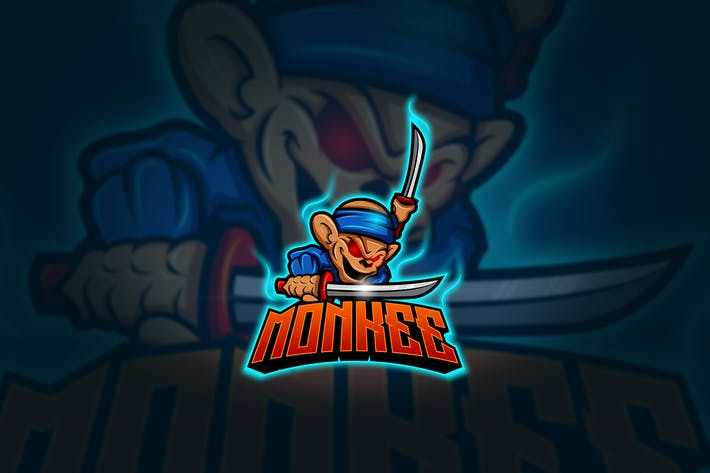 Thumbnail for Monkey - Mascot & Esport Logo