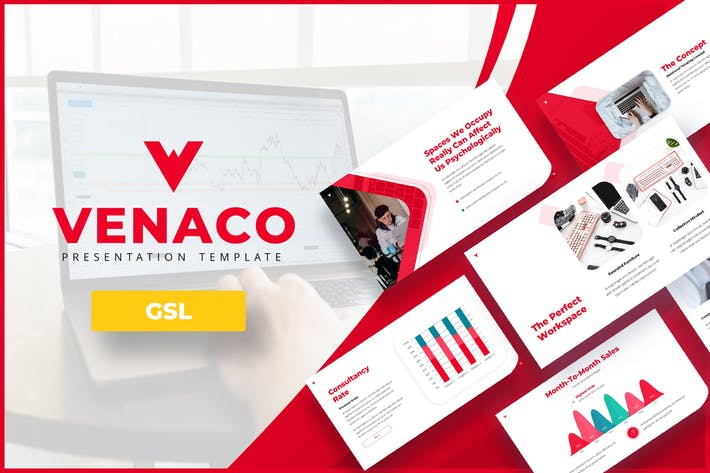 Thumbnail for Venaco - Google PräsentationsVorlage Unternehmen