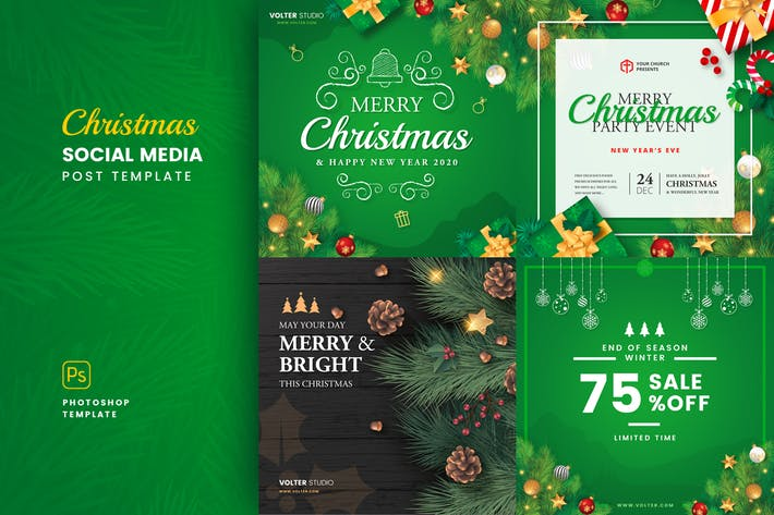 Thumbnail for Christmas Social Media Post Template