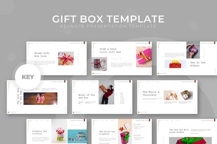 Geschenkbox - Keynote Vorlage