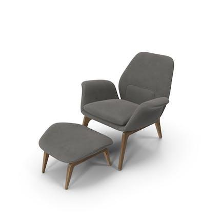 Sillón Lounge Velvet roble