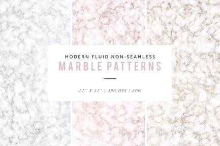 Modern Fluid Non-Seamless Marble Patterns