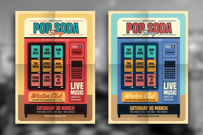 Thumbnail for Retro Pop Soda Song Folleto