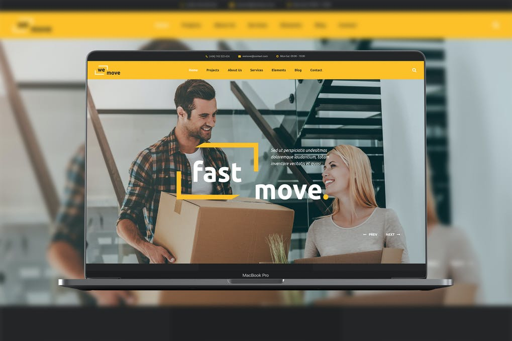 WeMove - Home Moving & Logistic WordPress Theme