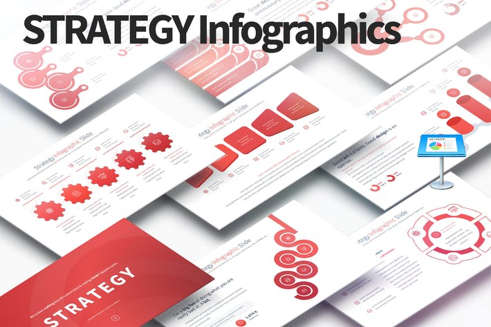 Thumbnail for Strategy - Keynote Infographics Slides