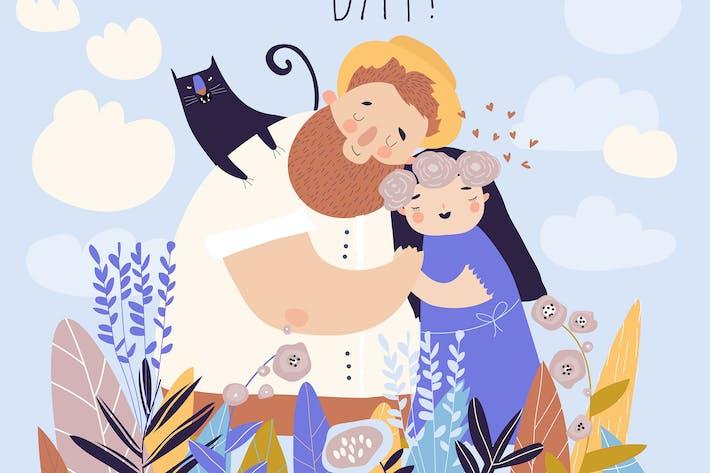 Thumbnail for Счастливая пара, оставаясь в поле цветов, cuddli