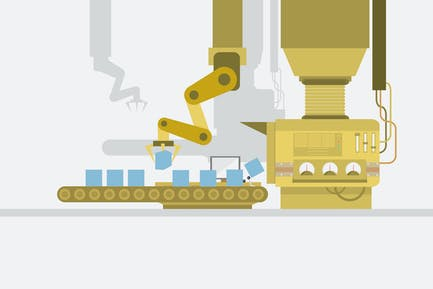 Factory - Illustrationshintergrund