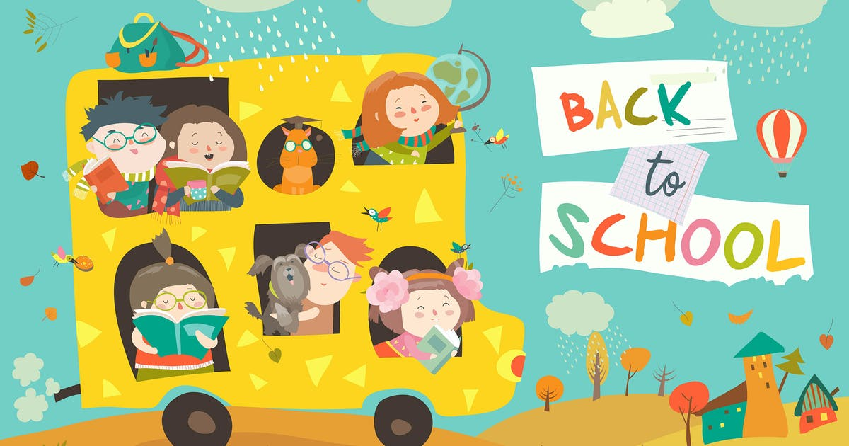 Download Children on the way to school. Back to school. by masastarus