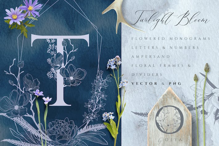 Thumbnail for Floral Monograms & Elements