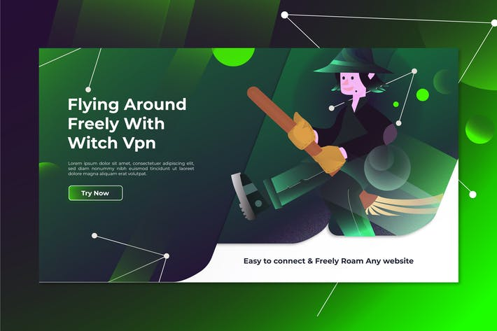 Thumbnail for Witch Vpn - Landing Page Illustration
