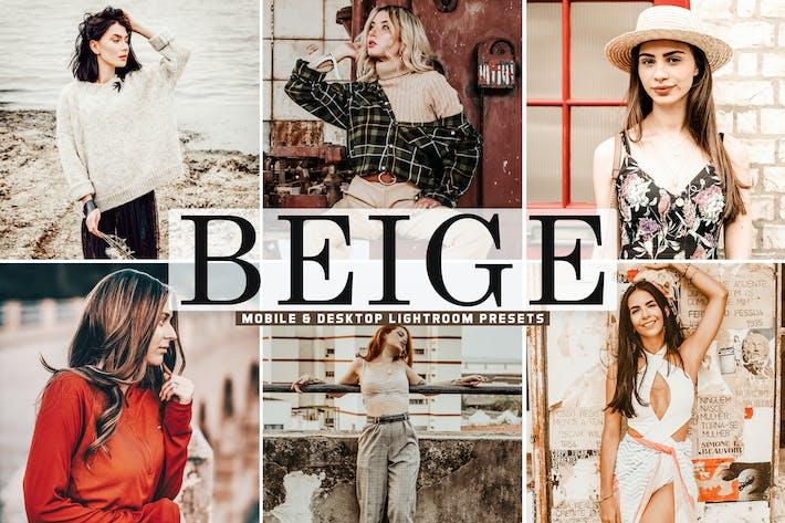 Thumbnail for Beige Mobile & Desktop Lightroom Presets
