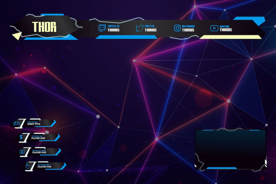 Thunder - Twitch Overlay Template