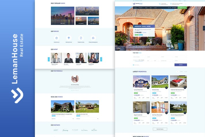 Cover Image For Lemanhouse - Real Estate HTML Template