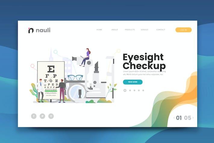 Thumbnail for Eyesight Checkup Web PSD and AI Vector Template
