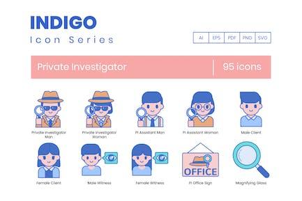 95 Private Investigator Line Icons