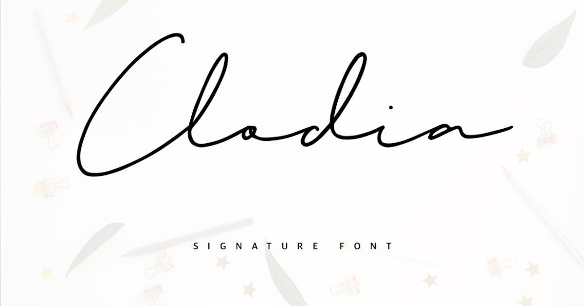 Download Clodia Signature Font by maulanacreative