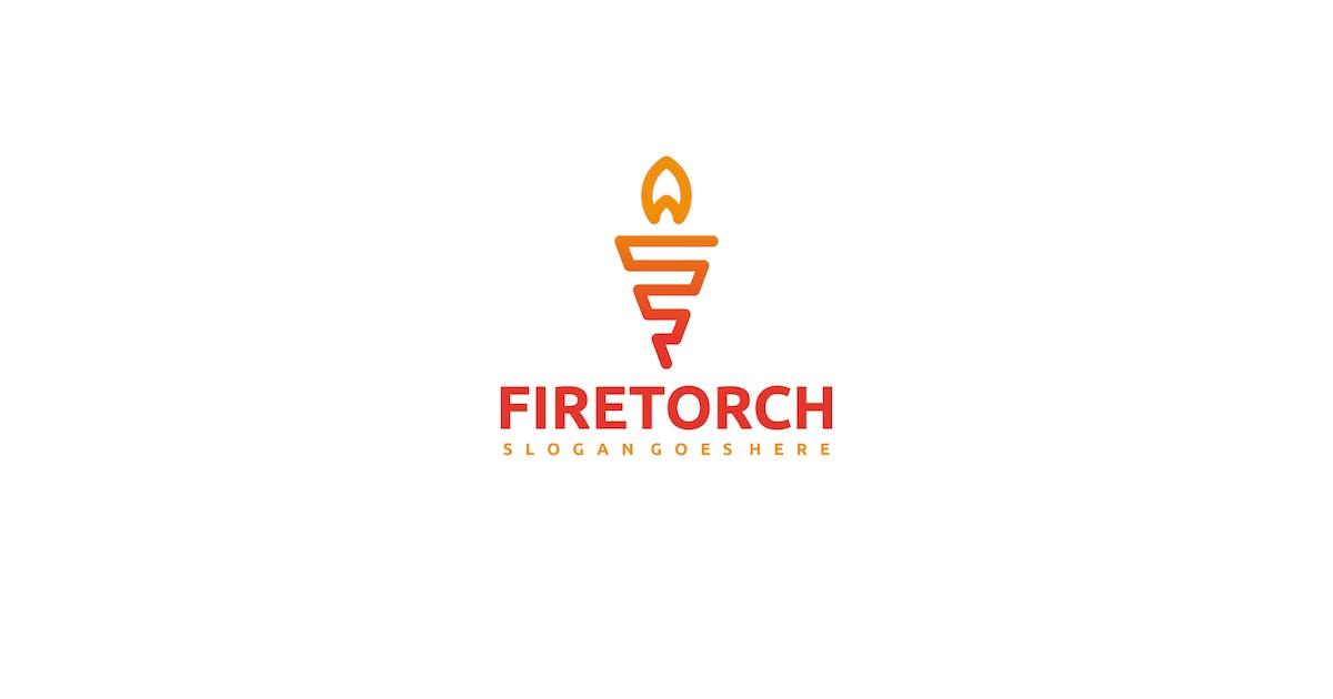 Download Fire Torch Logo by 3ab2ou