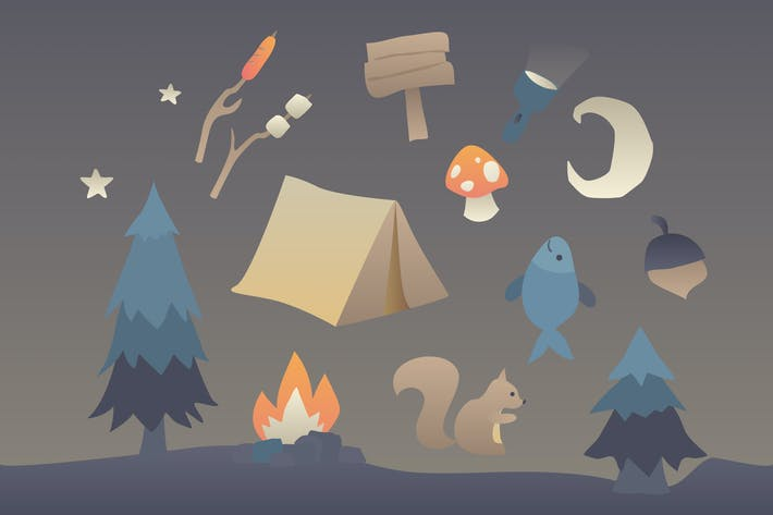 Thumbnail for Camping Clipart