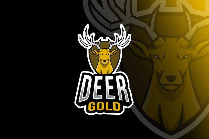 Thumbnail for Deer Gold Esport Logo Template