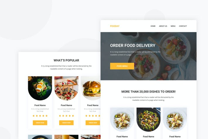 Thumbnail for Online Food Ordering - Email Newsletter