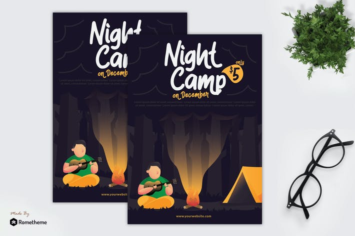 Thumbnail for Night Camp - Flyer GR