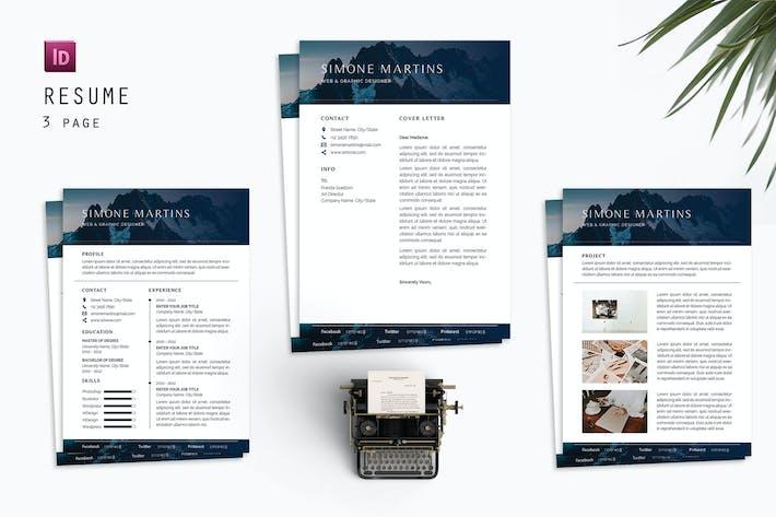 Thumbnail for Simone Resume Designer