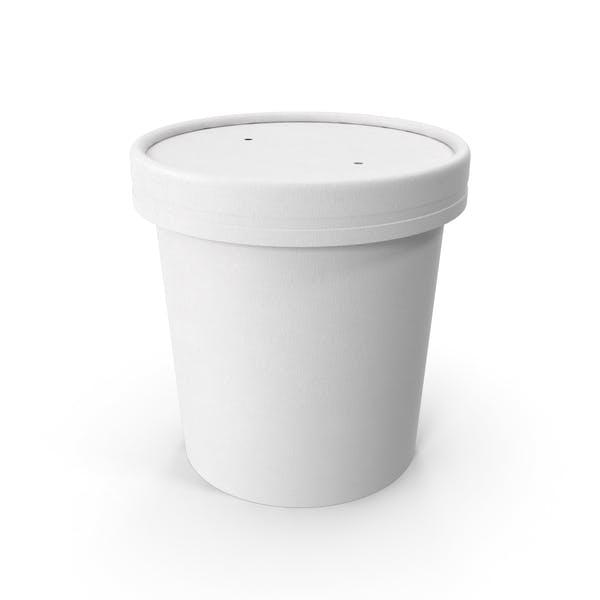 Белая бумага Food Cup с вентилируемой крышкой одноразовое ведро для мороженого 12 унций 300 мл