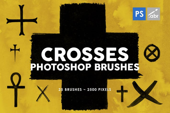 Cover Image For 25 Crosses Photoshop Stamp Brushes