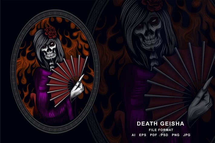 Thumbnail for Death Geisha Skull