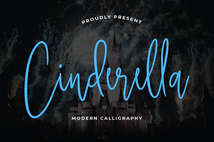 Thumbnail for Cinderella Beautiful Calligraphy Font