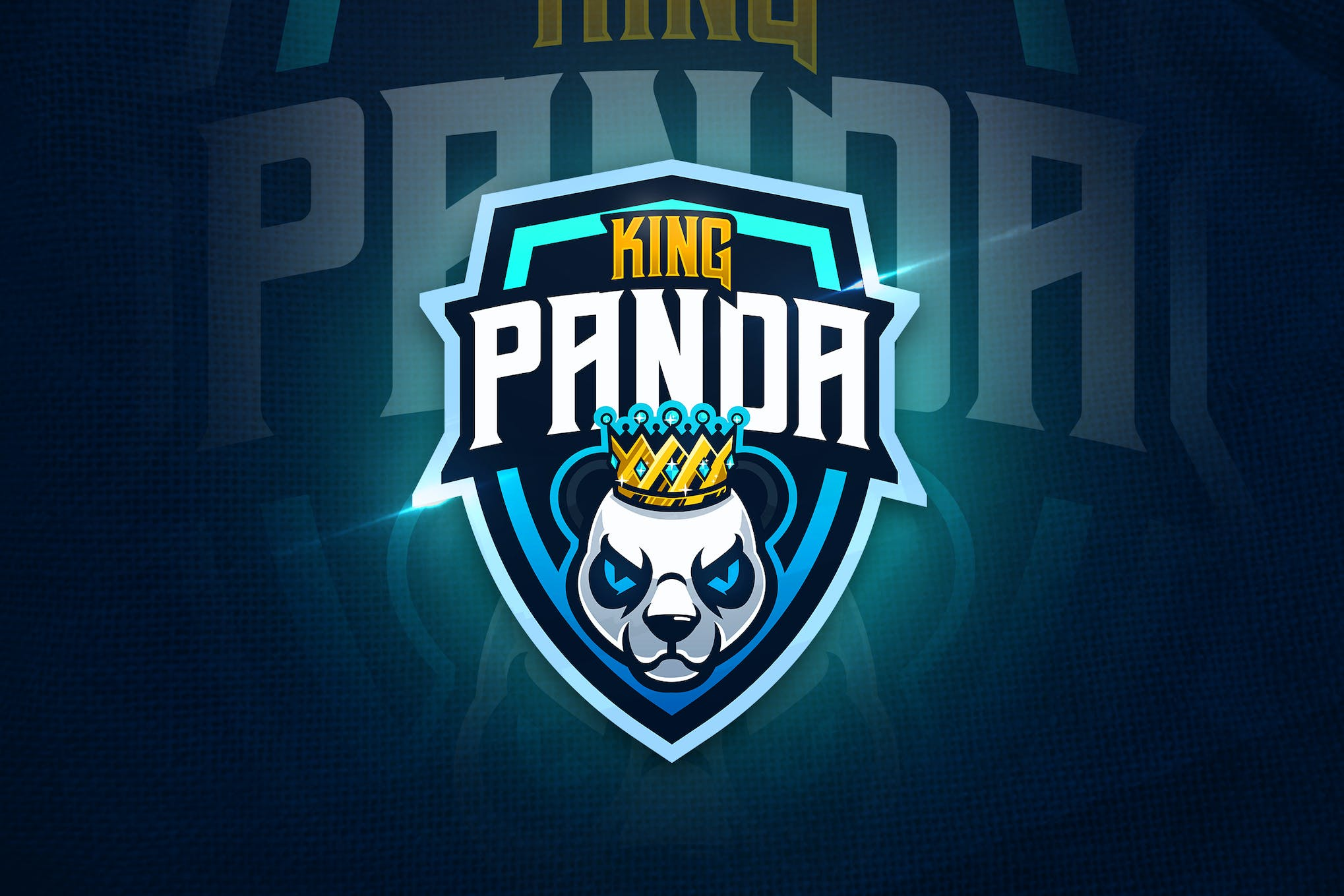 King Panda Mascot Esport Logo By Aqrstudio On Envato Elements