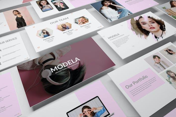 Thumbnail for МОДЕЛА — Творческий бизнес Google Слайд Шаблон