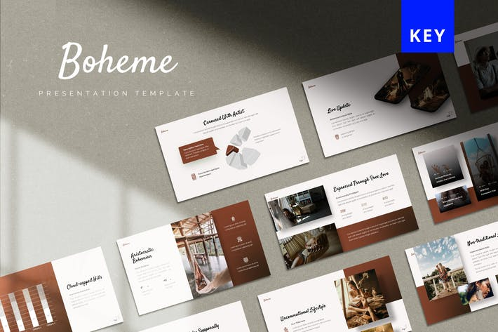 Thumbnail for Boheme - Vintage Keynote Template