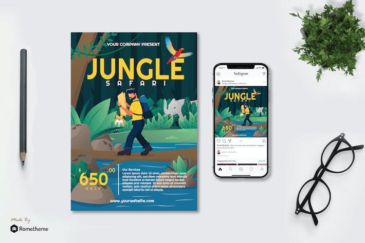 Thumbnail for Jungle Safari - Creative Flyer & Instagram Post GR