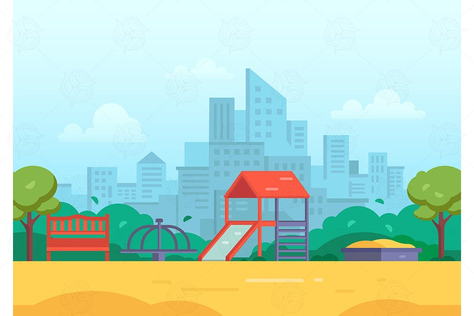 Download Children playground - vector illustration by BoykoPictures